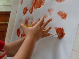 Painting...with dimples.
