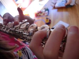 Flute fingers.