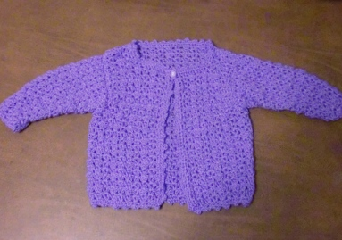 Crocheted Baby Sweater