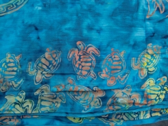 """Wrapsody Bali Baby Breeze gauze wrap-style baby carrier. This pattern is called """"Morgaine."""""""