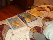 7 pm: Bedtime reading