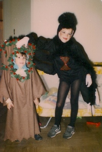 1984. My sister was a tree. She had a nest and birds on her head, too.
