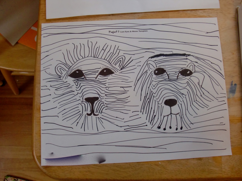 My eight-year-old daughter's lions.