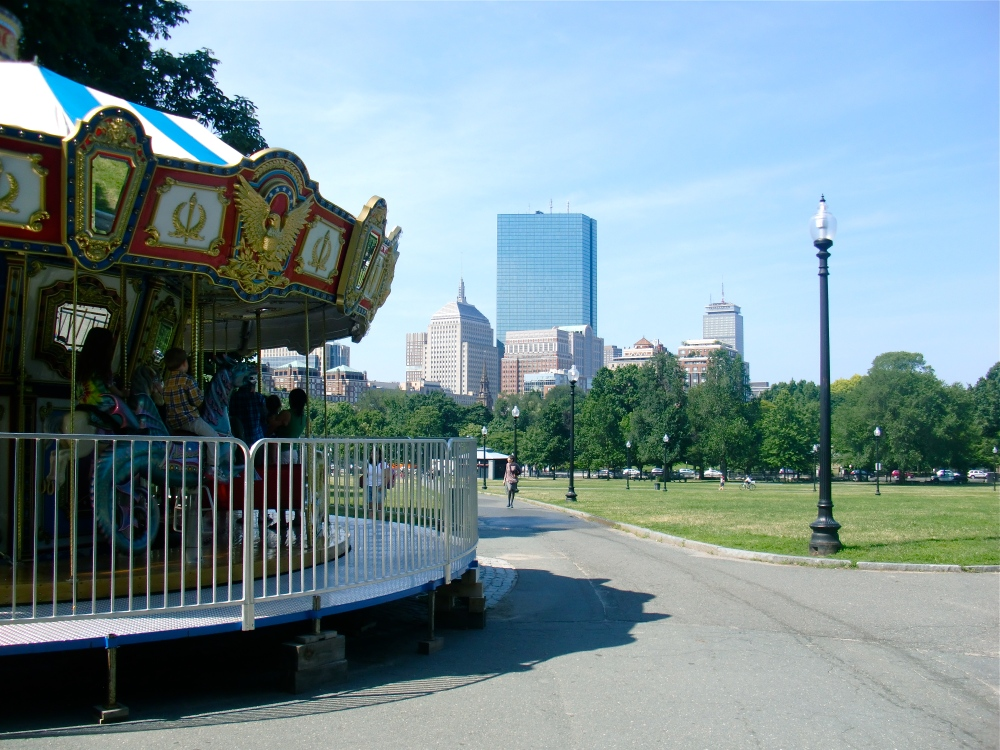 The carousel on Boston Common