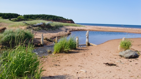 The beach at North Rustico.