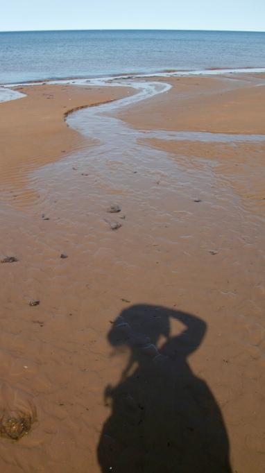Self-portrait at the beach at North Rustico.