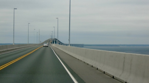 Confederation Bridge on the way back to New Brunswick. At 12.9 kilometers (8 miles) long, it's the longest bridge over ice-covered waters.