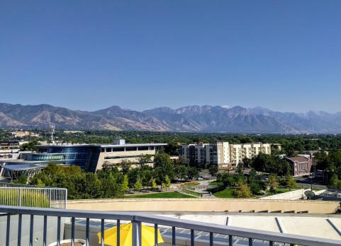 The view from the library roof.