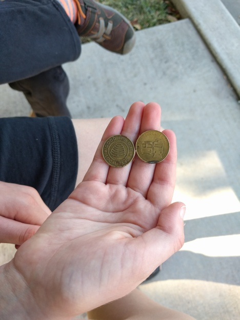 Transit tokens we saved for six years.